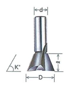 大日商 超硬アリ錐 トリマー用 6x10/1D(d=6、D=10、l=5.8、K=71)