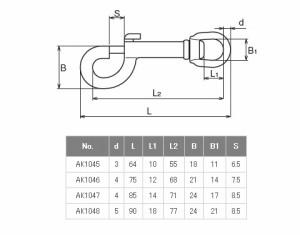 浅野金属工業 スイベルスナップ サイズk1 AK1046