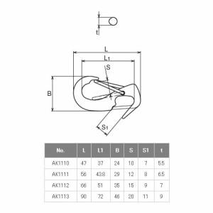 浅野金属工業 オープンマガタマフック サイズNo.3 AK1112