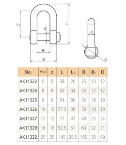 浅野金属工業 角頭シャックル(鍛造) サイズ8 AK11324