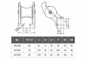 浅野金属工業 アルミイカリ巻きローラー 90 AK3092
