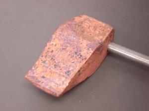 焼半田鏝 (焼きゴテ) 斧型 375g (100匁)