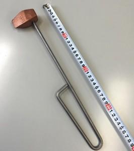 焼半田鏝 (焼きゴテ) 斧型 500g (120匁)