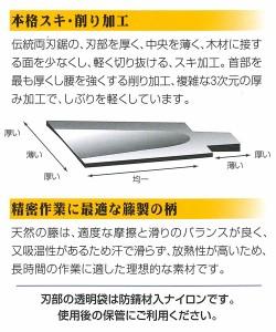 カネジュン 光川大造作 本職用 細目 細巾両刃鋸 8寸目 225mm