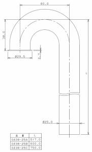 カクダイ ステッキ管(60×517) ※取寄品 0438-25A