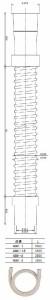 カクダイ 洗濯機排水ホース(長さ1m) 4361-1 4361-1