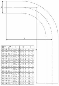 カクダイ 特ベンド(300×500) 4690-32E 4690-32E