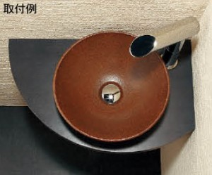 カクダイ コーナーカウンター(夕霧) 穴径90mm 497-007-D