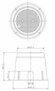 カクダイ 電磁弁ボックス(丸型) 504-011 504-011