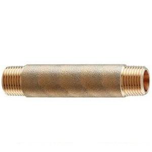 カクダイ 砲金長ニップル(長さ100mm・呼称30) 1個価格 616-610-100 616-610-100
