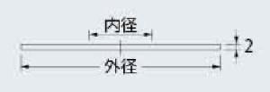 カクダイ ゴムプレート(外径80×内径16mm) ※取寄品 621-750-E
