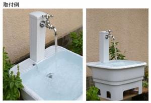 カクダイ 水栓柱(ミカゲ・80角) 624-071 624-071
