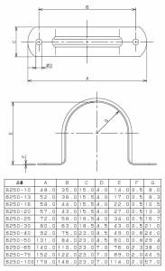 カクダイ サドルバンド(49×4.5) 6250-40 6250-40