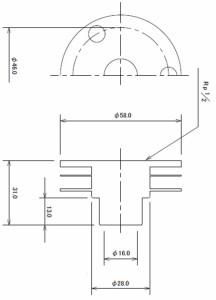 カクダイ 銅管用ユニット取出し金具 6441-13×15.88 6441-13×15.88