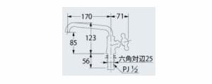 カクダイ カラー立形自在水栓 マットブラック 1個価格 ※取寄品 700-716-13