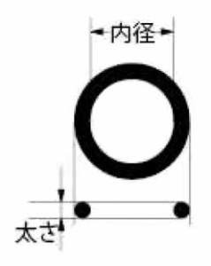 カクダイ 補修用Oリング(31.7×3.5)(2枚入) 794-85-32