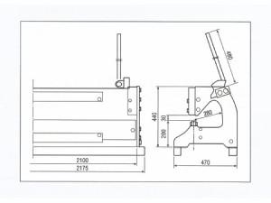 盛光 折曲機 モリペット V-3 3枚フレーム 0.5×2000mm ※メーカー直送品 OHMV-0720