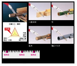 玉鳥 レザーソー折込 万能 250(替刃・250mm) S-812
