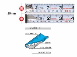 KDS 両面ステンレスネオロック25巾(まさめ)7.5m(尺相当目盛) SS25-75S BP
