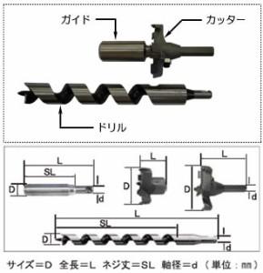 スターエム 超硬座掘錐 標準径 ドリル付 21mm×60mm 28M-D2160