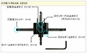 スターエム 充電ドリル用自在錐 本体 36X