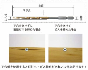 スターエム ハイスチタンコーティング下穴錐 5mm×135mm 75HT-050
