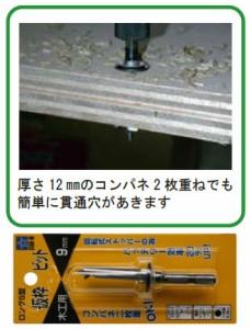 スターエム ロングS型仮枠ビット 13.5mm 72S-135