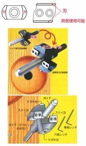 スターエム 超硬替刃式座掘錐 ドリル付 15×60mm 28K-D1560