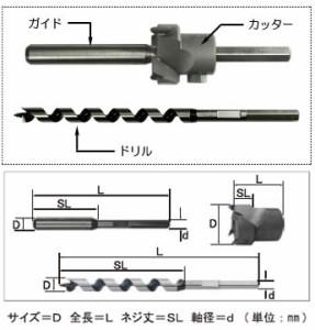 スターエム 超硬座掘錐 小口径 ドリル付 15mm×30mm 28S-D1530