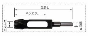 スターエム 埋木錐 15.4mm×140mm 510-150