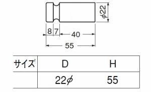 シロクマ 真鍮 溝入丸棒フック 金 1箱10個価格 ※メーカー取寄品 CB-17