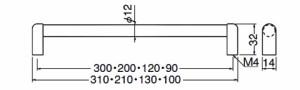 シロクマ 木目リバティーハンドル 200 ライトオーク・クローム 1箱20本価格 ※メーカー取寄品 HC-32