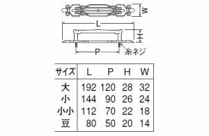 シロクマ アトリエ座付ハンドル 小小 GBジャーマンブロンズ 1本価格 ※メーカー取寄品 HZ-38