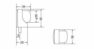 シロクマ アーチ戸当り床付 45mm クローム 1個価格 ※メーカー取寄品 RB-15
