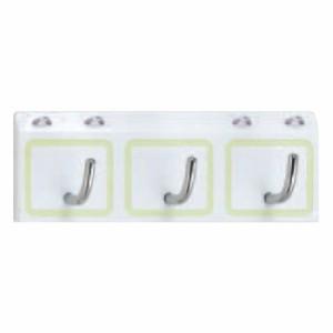 シロクマ 角形フック蓄光 3連 白 1個価格 ※メーカー取寄品 C-153