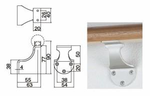 シロクマ R形スマートブラケットL受 F アンバー 1箱10個価格 ※メーカー取寄品 SBR-8100