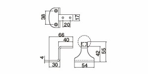 シロクマ R形スマートブラケット直受 F シルバー 1箱10個価格 ※メーカー取寄品 SBR-8101