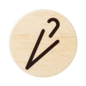 シロクマ チークサイン No.4 傘マーク 木目 1箱10枚価格 ※メーカー取寄品 NP-30-4