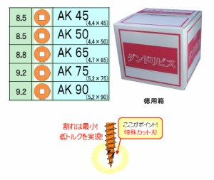 ダンドリビス 少太AKビス90(四角2番ビット)(徳用箱・1280本入)