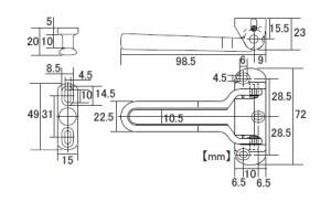 SMZ ベンリー耐震型ドアガード 外開き ゴールド 1個価格 SB-DG200G