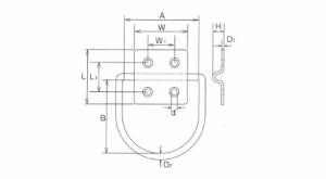 水本機械 ステンレス金具 ハンガーユニットD型 1個価格 HD-2(B-845)