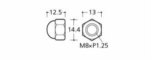 パイオニアテック 袋ナットM8用 ステンレス製(4個入) ※取寄品