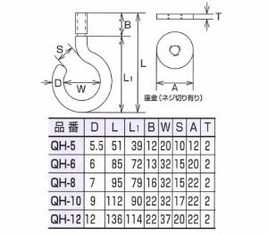 水本機械 ステンレス金具 吊りフック(カットアンカー付)20個価格 QH-6
