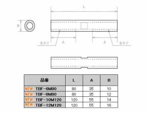 水本機械 ステンレス金具 ロールターンバックル 1個価格 TBF-10M120