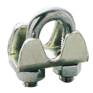 フジワラ 鉄板製ワイヤクリップ ワイヤ径6mm用 UTW-6