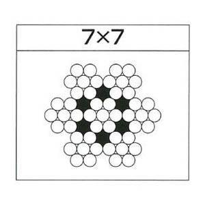 水本機械 ステンレスワイヤーロープ 7×7 ロープ径0.27mm 200m巻価格 W7-0.27