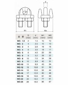 水本機械 ワイヤクリップ SUS304 WC-10