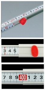 シンワ 3倍尺のび助両方向式 400cm D(メートル目盛) 65106