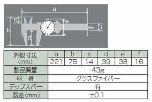 シンワ ファイバーノギス ダイヤル式 150mm 19932