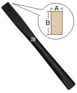 アルデ 仮枠玄能柄 強化木材黒仕上 450mm